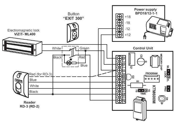 Ml-350aws электромагнитный замок схема подключения