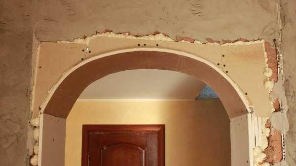 Как сделать полукруглую арку из гипсокартона
