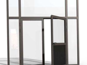 Какие выбрать алюминиевые двери – цвет, размер, способ открывания, наличие стеклопакета