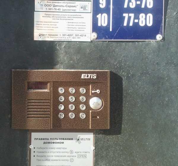 Домофон с инструкцией пользования