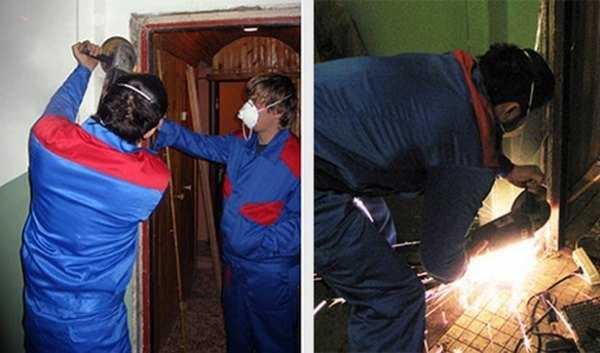 монтаж и демонтаж входной двери