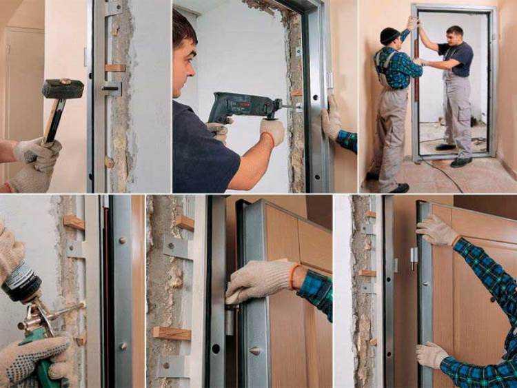 Монтаж железной двери