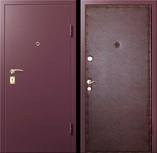 входные стальные двери эконом класса