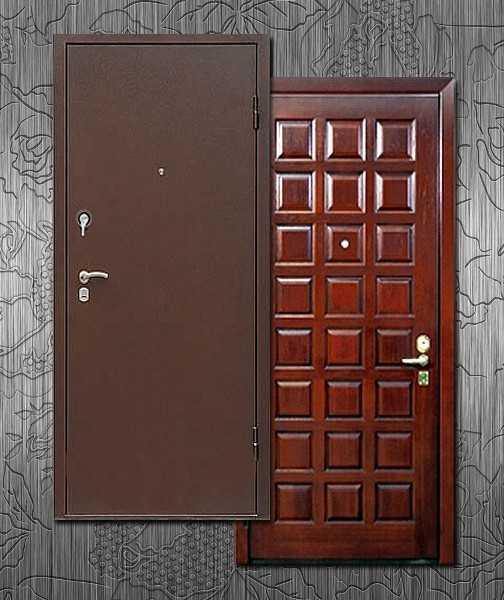 двери железные с металлической отделкой