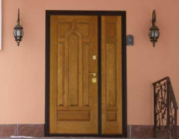 двухстворчатые стальные двери с художественной ковкой в подъезд