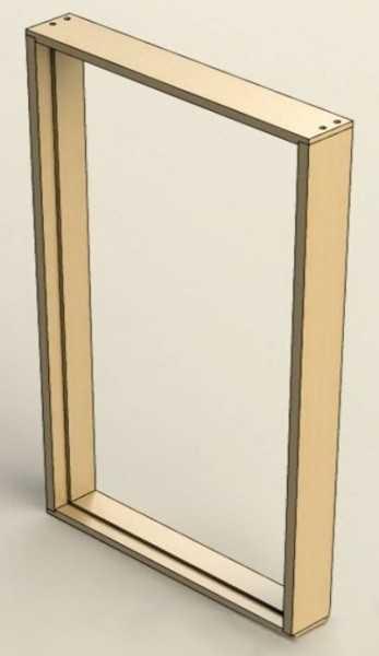 Короб двери в сборе