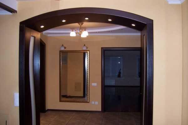 Как установить арку в дверной проем
