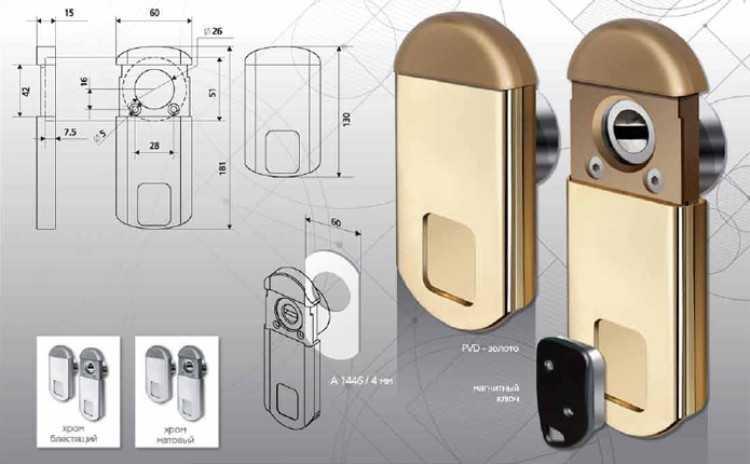 Конструкция магнитной накладки