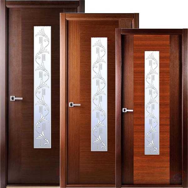 Шпонированные двери венге