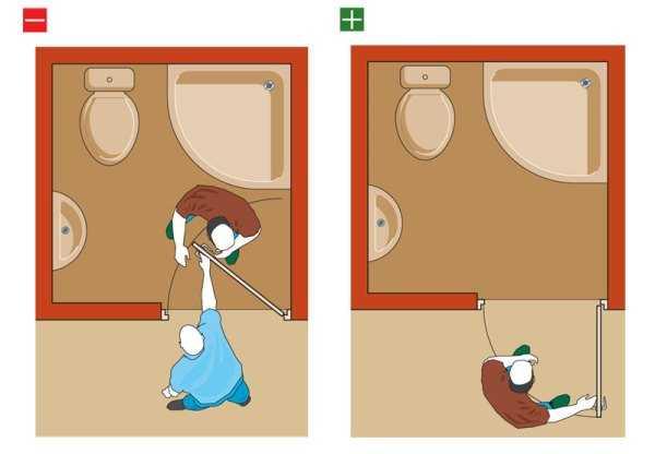 Как открывать в маленьких комнатах