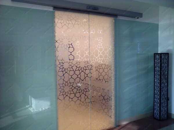 Автоматическая стеклянная дверь