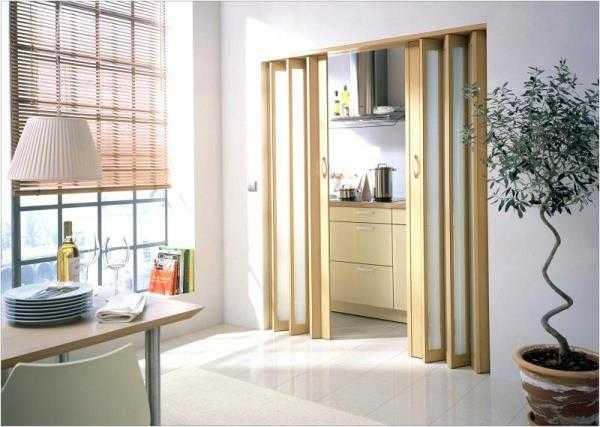 Дверь, складывающаяся гармошкой