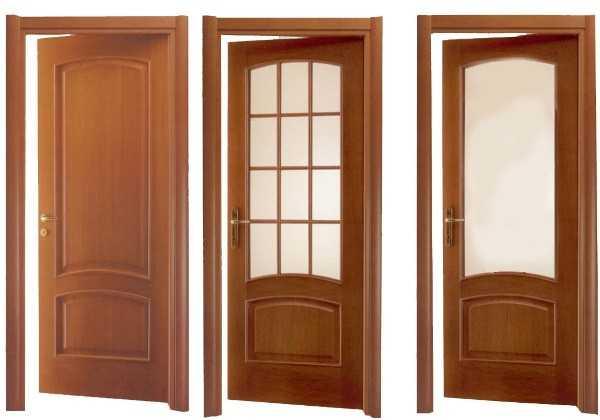 Варианты дверей со вставками и без
