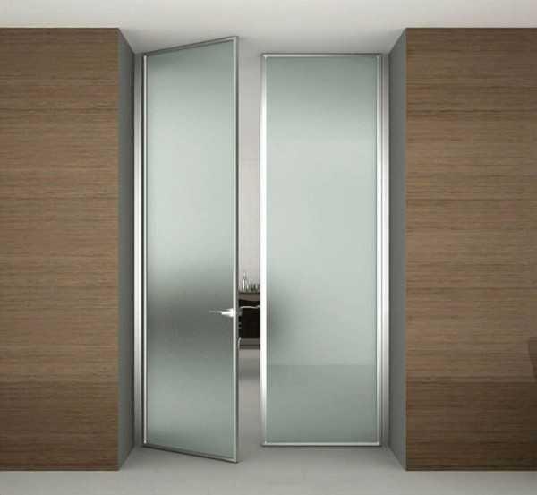 Маятниковые двустворчатые двери