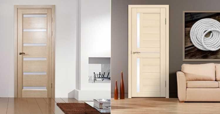 Классические гладкие двери – беленый дуб и ясень