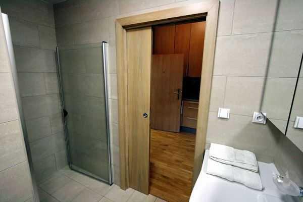 Сдвижная дверь в сауну