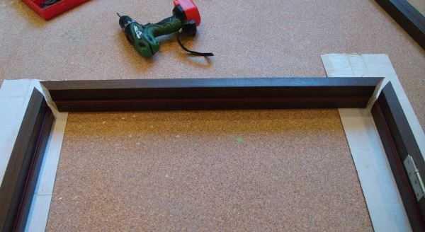 Раскладка элементов дверной рамы
