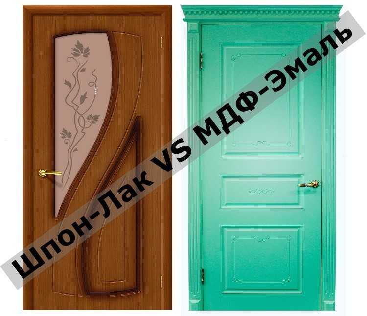 Двери эконом класса, гладкие, внешнее покрытие лак и эмаль