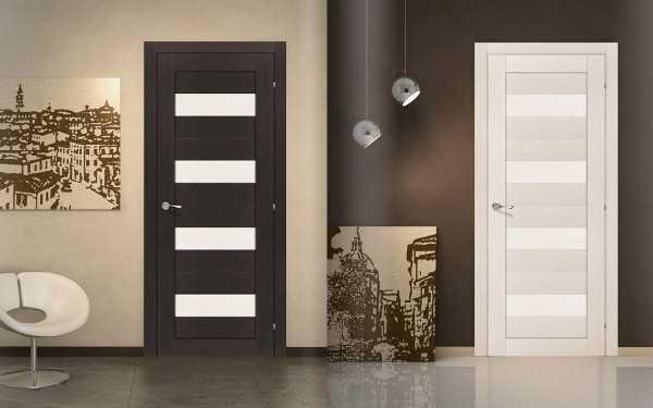 Двери модерн со стеклянными вставками