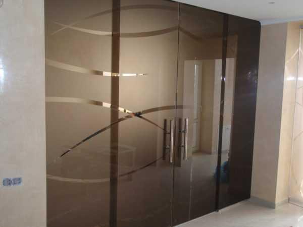 Двери из закаленного стекла