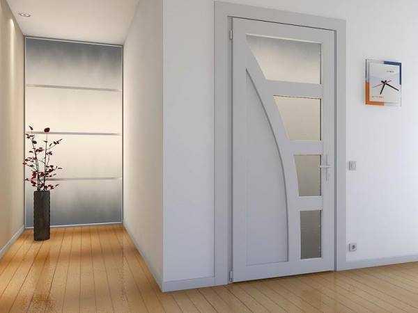 Межкомнатные пластиковые двери – филенчатые со стеклом