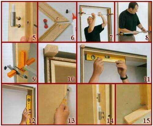 Сколько занимает установка межкомнатной двери