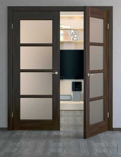 двери распашные двустворчатые межкомнатные размеры и установка