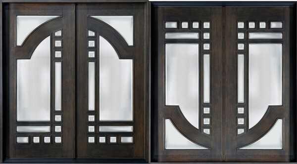 Двери распашные двустворчатые