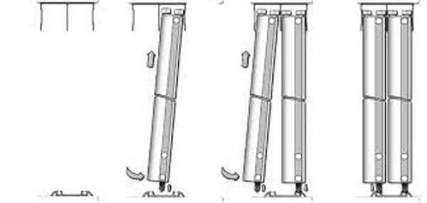 Схема установки створок шкафа купе