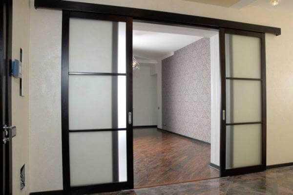 Двустворчатые раздвижные межкомнатные двери