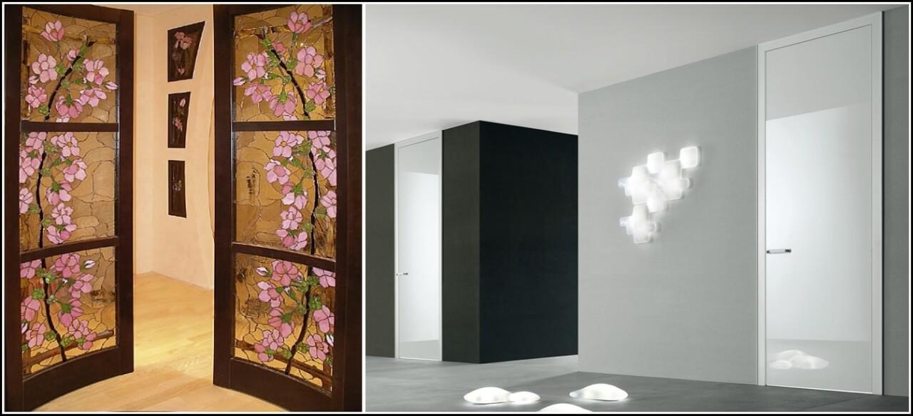 Витражи и светлые глянцевые премиум двери